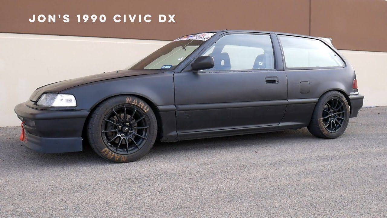 1990 civic dx track car build overview complete walk around ef hatchback b20b youtube [ 1280 x 720 Pixel ]