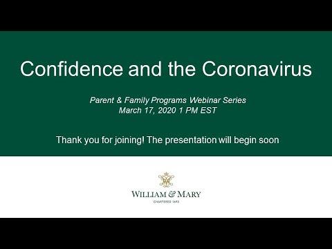 Confidence and the Coronavirus