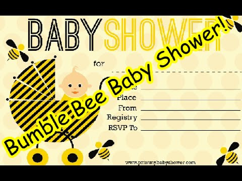 Bumble Bee Baby Shower Printable Decorations