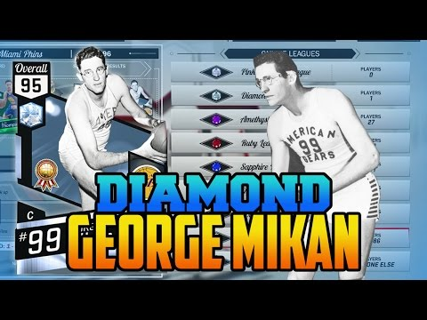 NBA 2K17 DIAMOND GEORGE MIKAN GAMEPLAY (MYTEAM ONLINE)