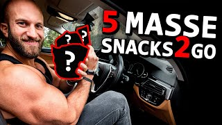 5 schnelle Masseaufbau Snacks für unterwegs