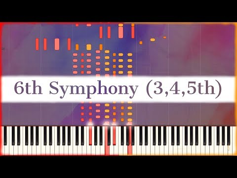 Beethoven: 6th Symphony 'Pastoral' (3-5th Mvmt) (Op.68) [Arr. Liszt | Synthesia] (S.464)