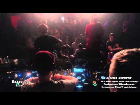 Hedex ft. Grima MC Live at Wobble Trouble Antwerp invites Train Recordings UK (Clip)