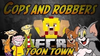 Minecraft (MODDED) Cops and Robbers - TOON TOWN Mod - W/ Jerome, Ryan, Bodil, and FRIENDS!