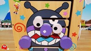 木で出来たアンパンマン よくばりBOX バイキンマンの変顔がとてもおもしろかったです!小さなお子さまでも安心して遊べますね!アニメ&おもちゃ thumbnail
