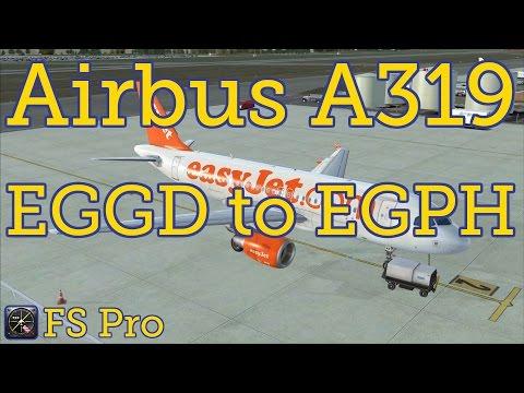 Airbus A319 Flight. Bristol (EGGD) to Edinburgh (EGPH)