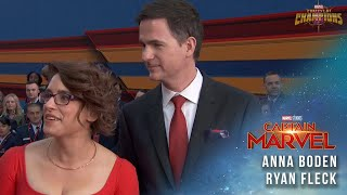 Captain Marvel Directors Anna Boden and Ryan Fleck Interview | Red Carpet Premiere