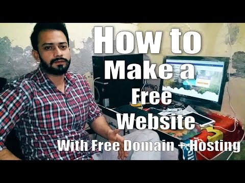 How to Create A Free Website - with Free domain + hosting -