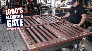 1900's Elevator Gate Repurposing | JIMBO'S GARAGE
