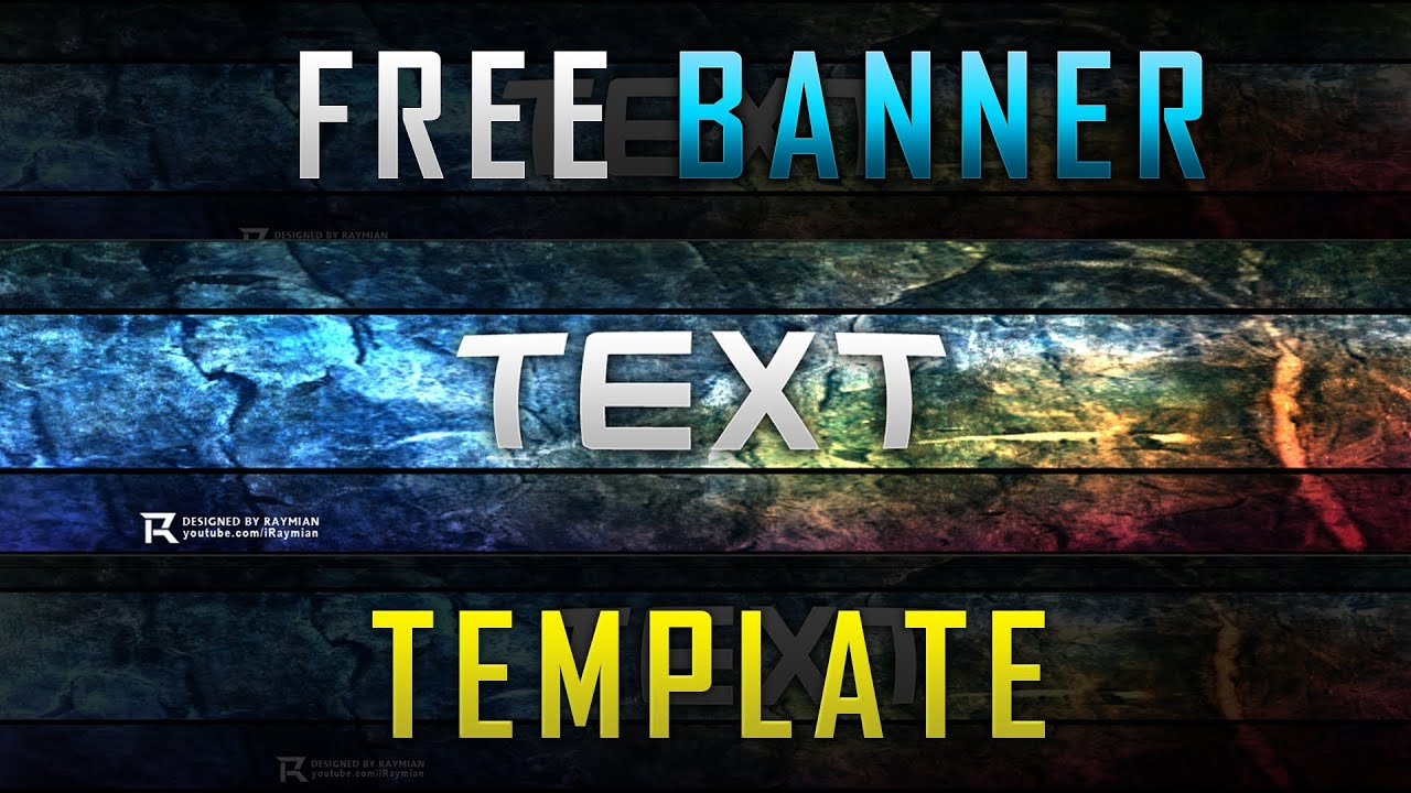 FREE Editable Banner Template - YouTube