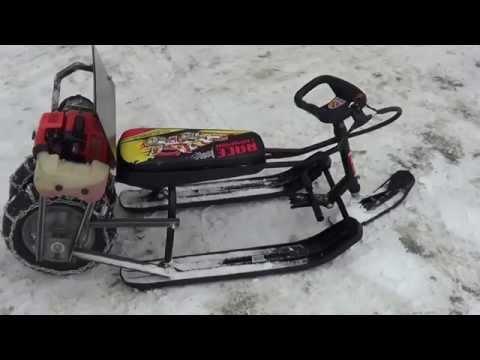 видео: Мото снегокат детский описание
