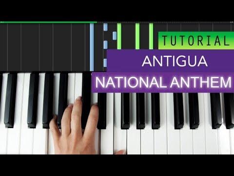 National Anthem Of Antigua Piano Tutorial