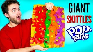 GIANT SKITTLES POP-TART - How To Make Huge Candy Pop-Tarts DIY