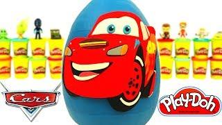 Гигантское Молния Маккуин Дисней Автомобили яйцо с Сюрпризом Плей До! Дисней Автомобили Игрушки