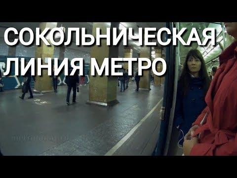 От Бульвара Рокоссовского до Саларьево, вся Сокольническая линия метро.