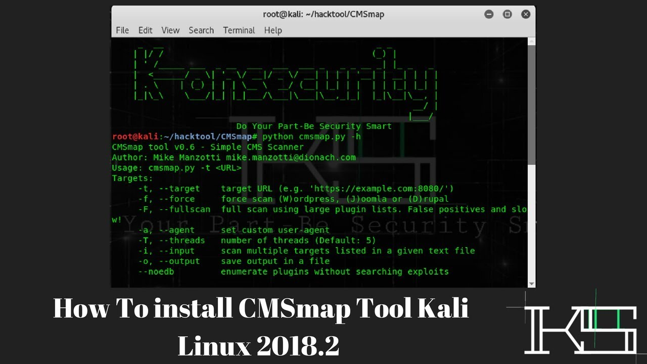 How To install CMSmap Tool Kali Linux 2018 2 - K-onSecurity