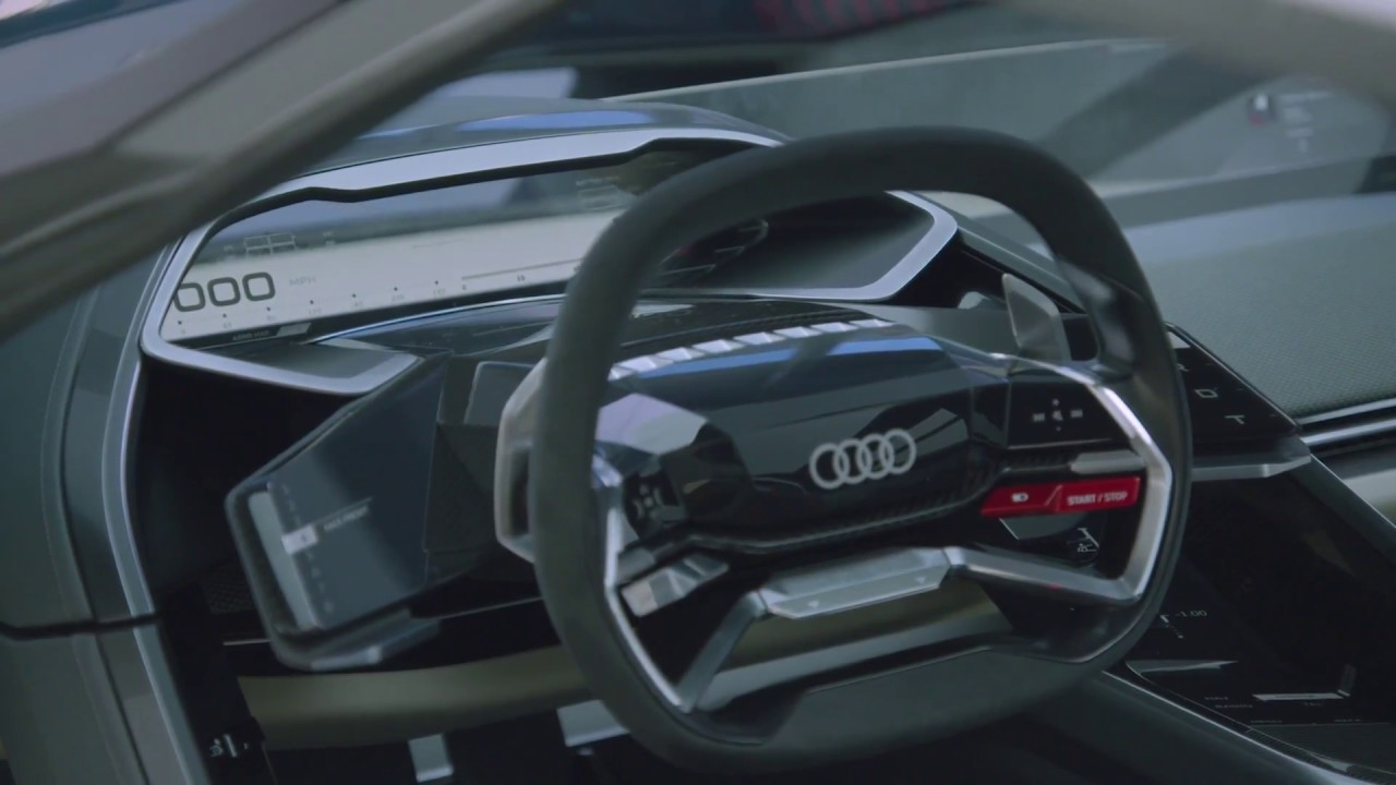 Audi Pb18 E Tron Concept Car Interior Design Youtube