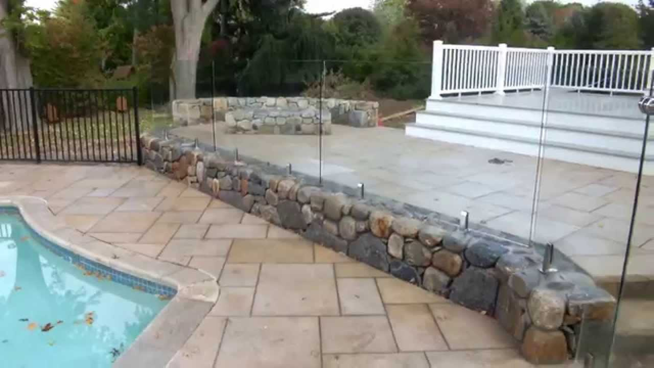 Glaspool Frameless Glass Pool Fence Installation Westport Ct
