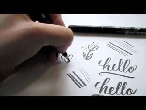 Brush pen comparision u write pretty things