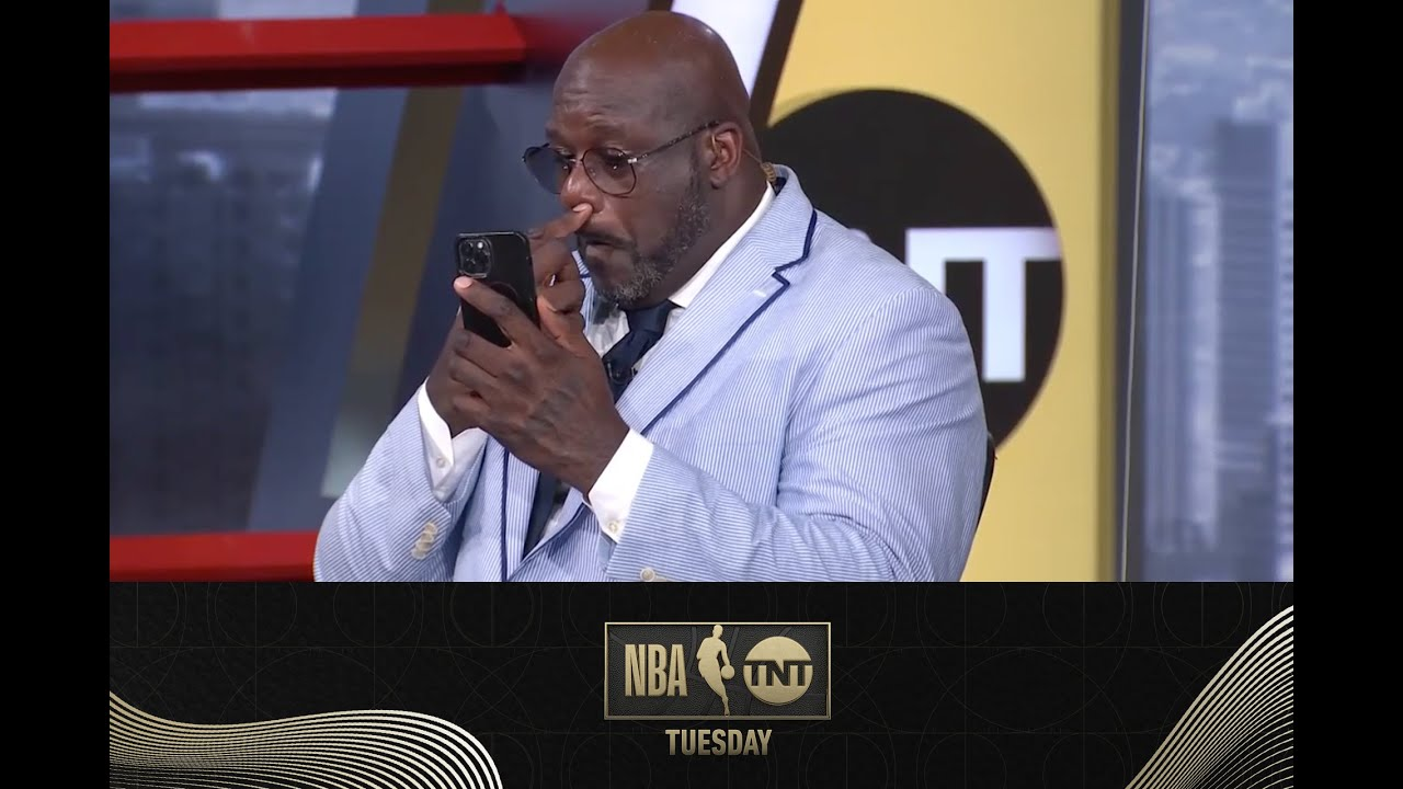Shaq Gets Caught With A Booger on Set | NBA on TNT Tuesday