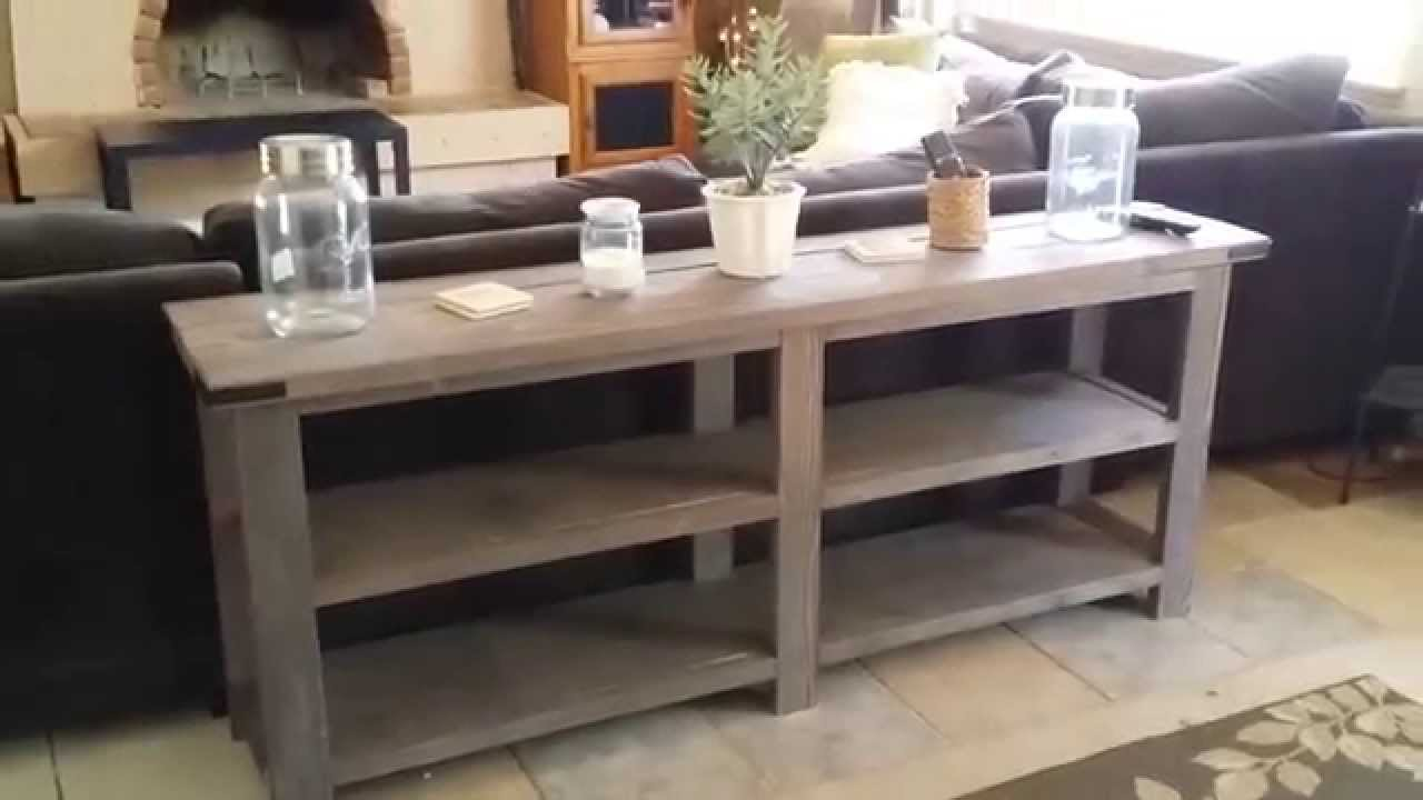 Console Table Build