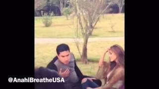 Anahi y Julion Álvarez Grabando Eres Video (Preview)