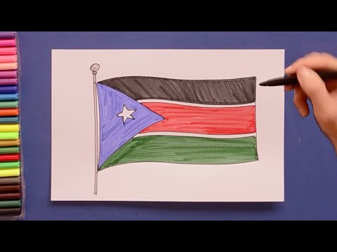 How to draw the Flag of South Sudan