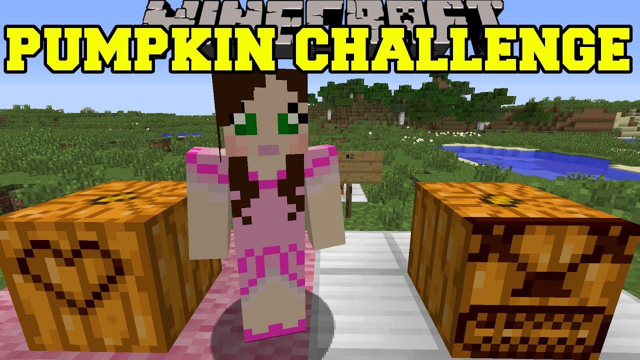 Minecraft: pumpkin carving challenge epic creations! mod showcase