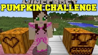 Minecraft: PUMPKIN CARVING CHALLENGE (EPIC CREATIONS!) Mod Showcase