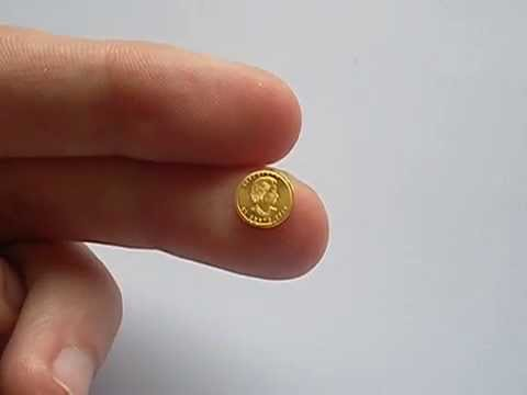 Baby Gold Coin Canadian One Gram Gold Maple Leaf Youtube