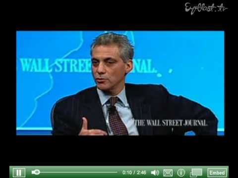 Rahm Emanuel: You never want a serious crisis to go to waste