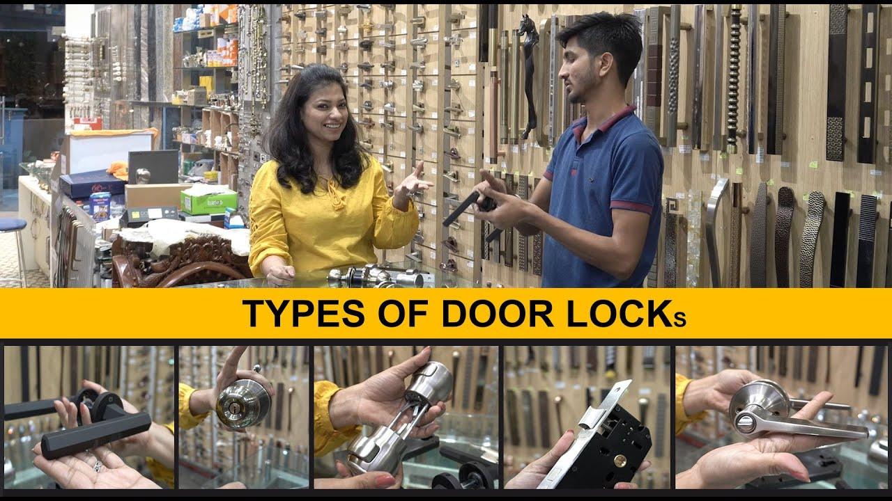 Types of Locks for Doors : Internal | Bedroom main Door Locks for Home  | Door lock design | Iosis