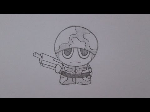 Como Dibujar Un Soldado Youtube