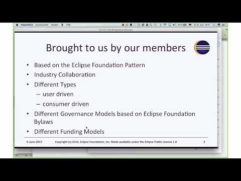 An introduction to some key Eclipse working groups