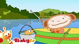 Oliver pesca no lago - BabyTV Brasil
