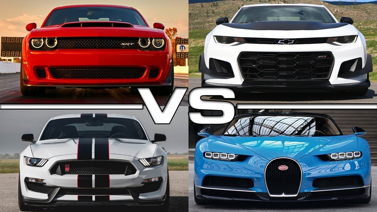 Dodge Challenger Srt Demon Vs Chevrolet Camaro Zl1 Vs Ford