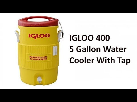 Igloo 400 Series Coolers Industrial Workplace 5 Gallon Drinking Water Cooler With Tap
