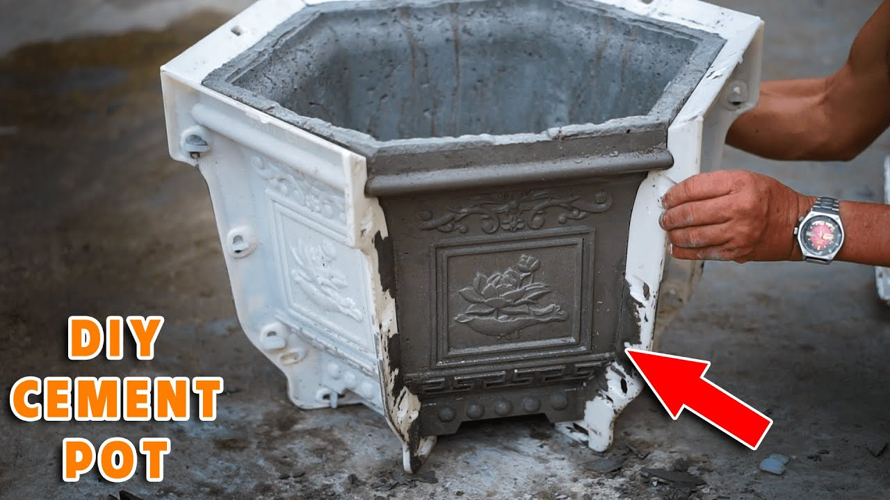 DIY Unique Cement Pots #4: Awesome Method for Mass Production with Plastic Mold