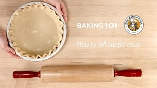 How to roll out pie crust