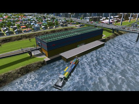 Cities Skylines. CIMFreight Dock for Barges