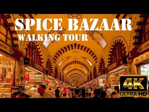 Istanbul Spice Bazaar Walking Tour in 4K! Istanbul Travel Guide 2019