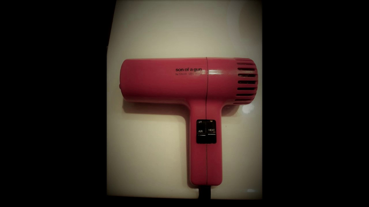 old style hair dryer 1970s throwback of a gun hair dryer clairol 1872 | maxresdefault
