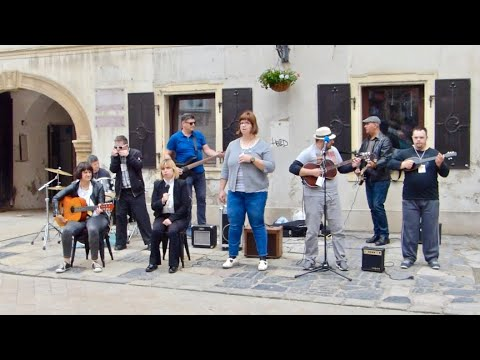 Special musicians on street in Zagreb, Croatia