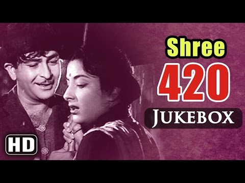 All Songs Of Shree 420 {HD} - Raj Kapoor -Nargis - Shankar Jaikishan Hits