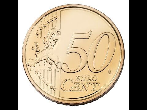Putting a 50 cent euro coin on a banana