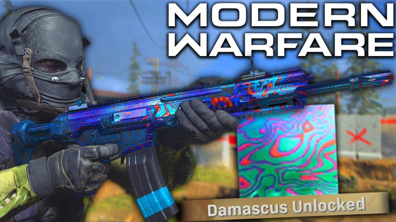 Modern Warfare Damascus Camo Unlocked Finally Rarest Camo Youtube