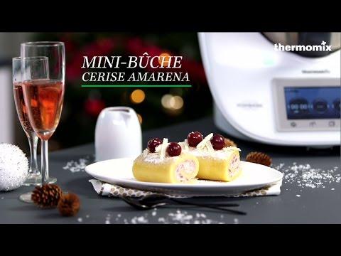 Minibûche Cerise Amarena Au Thermomix TM Recette Issue Des - Cours de cuisine thermomix