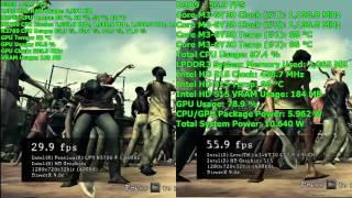 Pentium N3700 vs. Core m3-6Y30 - Resident Evil 5 Benchmark - 720p (Low)