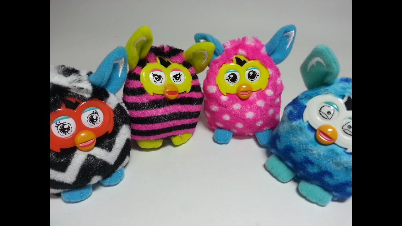 HAPPY MEAL #FURBY BOOM FULL SET OF 4 TOYS MCDONALDS TOYS ...