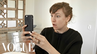 Lena Dunham Test Drives the Brow Microblading Trend | Vogue